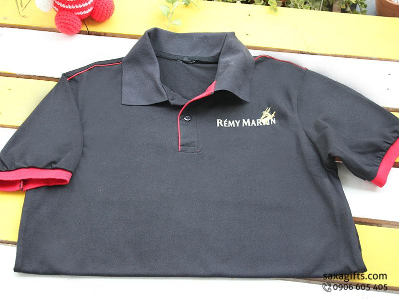Áo thun quảng cáo in logo thương hiệu Rémy Martin, cổ bẻ