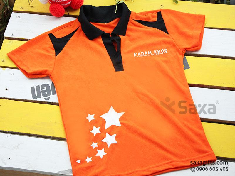 Áo thun quảng cáo in logo thương hiệu Adam Khoo, cổ bẻ