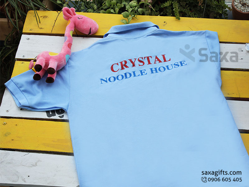 Áo thun quảng cáo in logo thương hiệu Crystal tay ngắn
