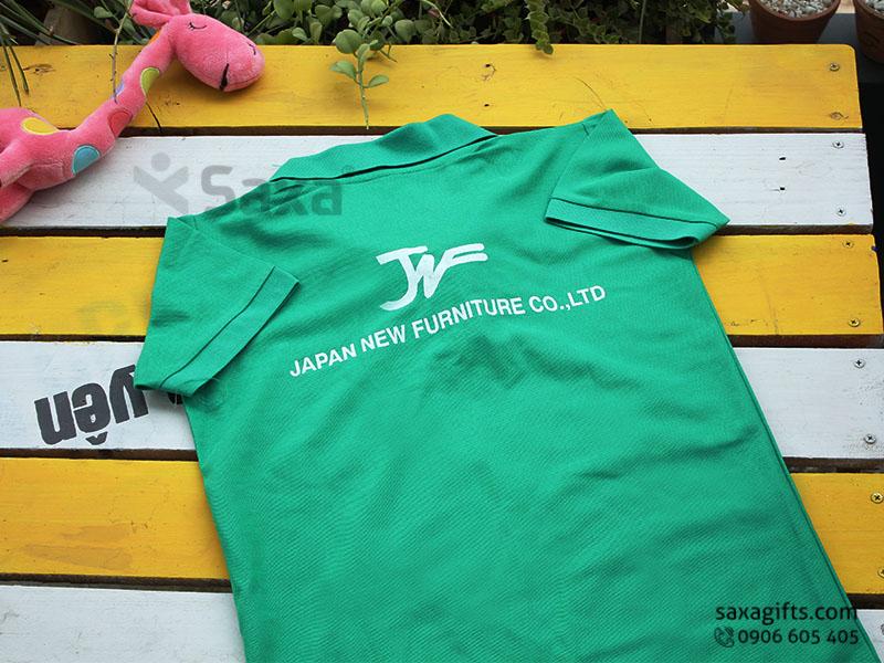 Áo thun quảng cáo in logo thương hiệu Japan New Furniture