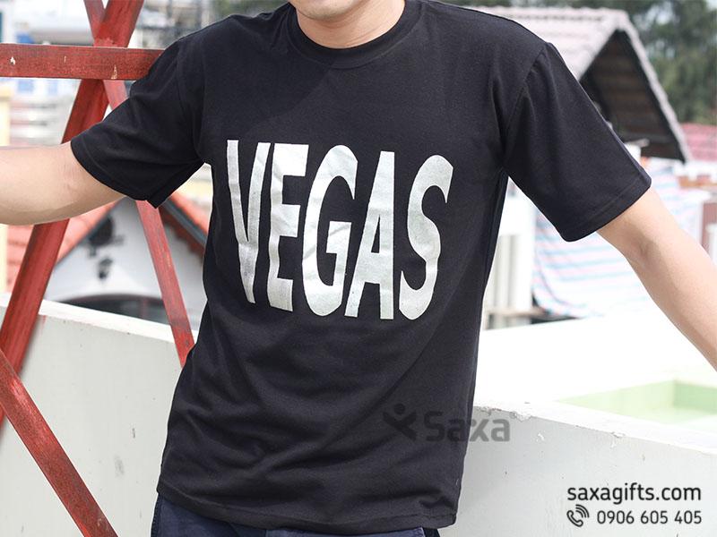 Áo thun quảng cáo in logo thương hiệu Vegas