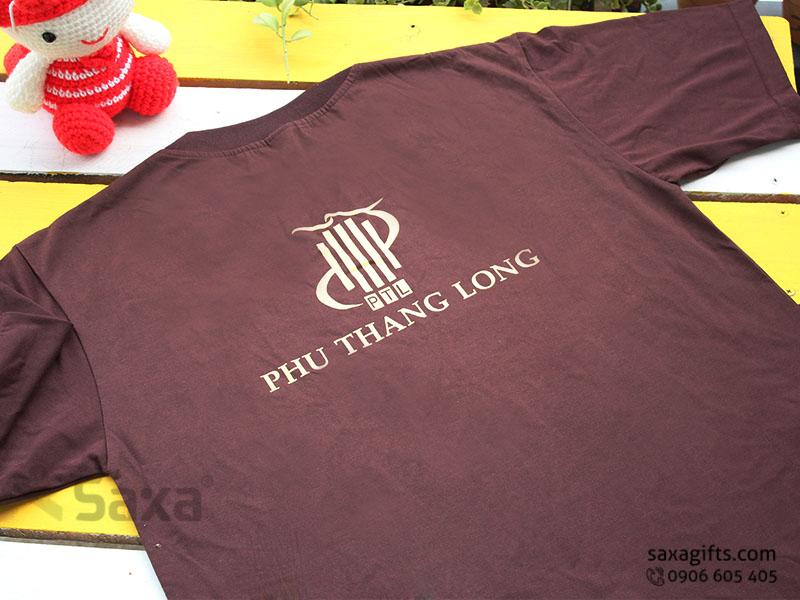 Áo thun quảng cáo in logo thương hiệu Phú Thăng Long