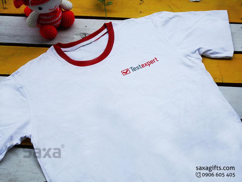 Áo thun quảng cáo in logo thương hiệu Test Expert