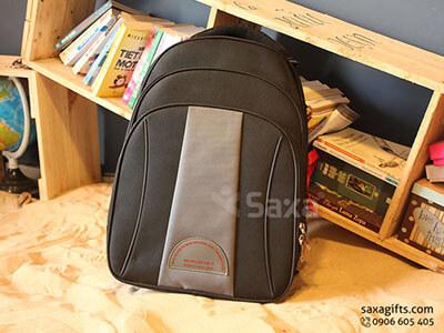 Balo quà tặng đựng laptop 3 tầng, đen phối xám