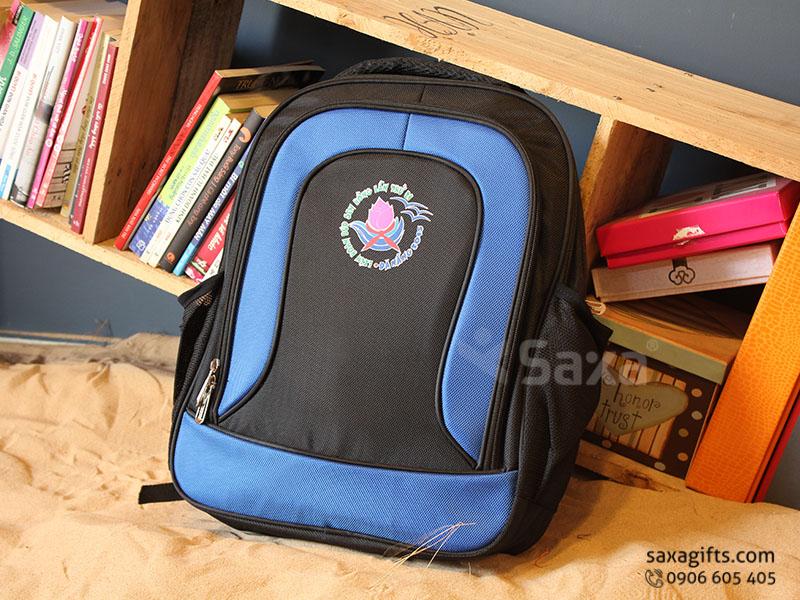 Balo quà tặng đựng laptop – In logo Búp Sen Hồng