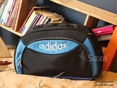 Túi du lịch quà tặng mẫu Adidas đen phối xanh - Mẫu 2