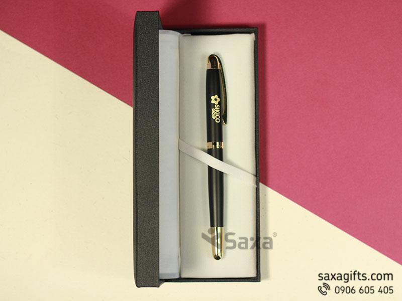 Bút ký kim loại nắp rời mạ vàng khắc logo Sikico Group