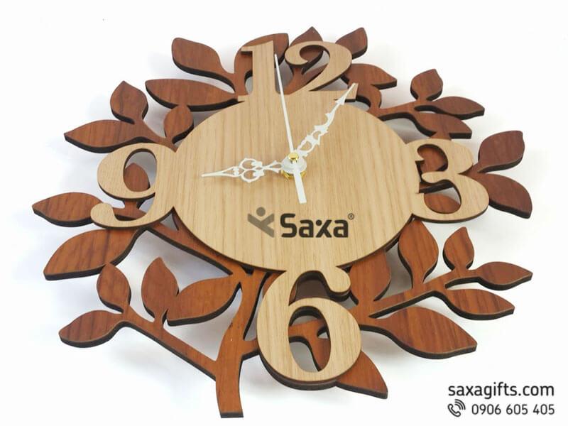 Đồng hồ gỗ quà tặng – Kiểu dáng 3d hình nhánh cây sống động