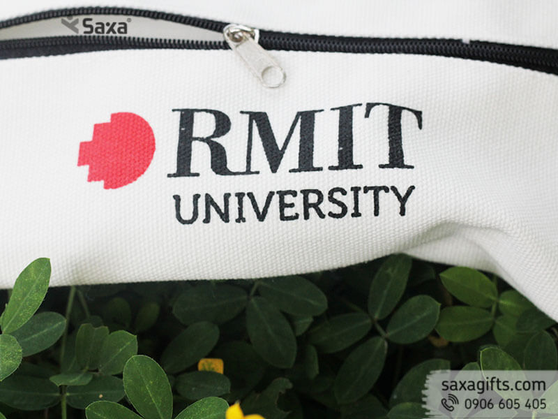 Túi canvas đựng bút in logo Rmit University