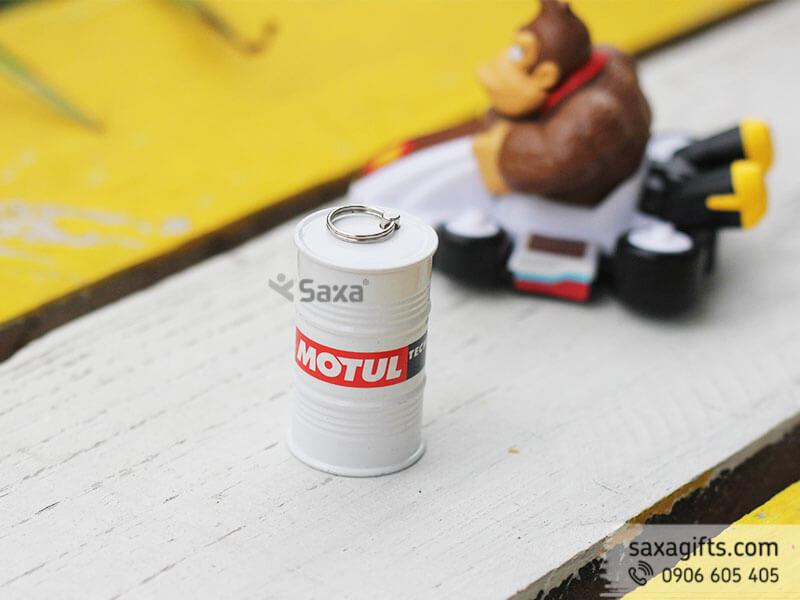 Usb kim loại nắp rời mô hình thùng phuy đựng dầu Motul