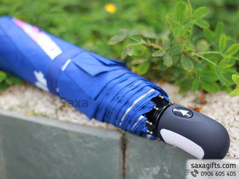 Dù cầm tay gấp 3 tự động 1 chiều in logo Santen