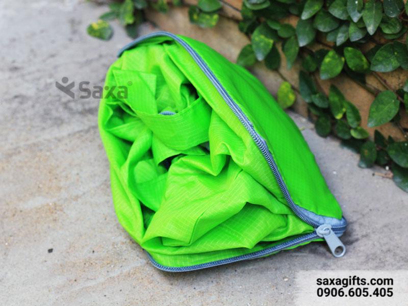 Túi vải dù xếp gọn – In logo Mắt Việt sang trọng