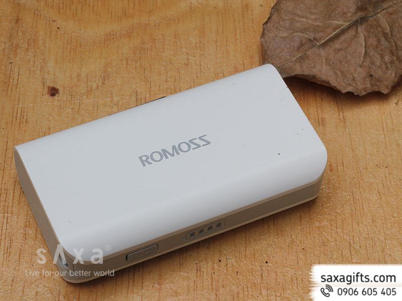 Pin sạc dự phòng Romoss Solo 2 4000mAh có đèn pin - Chính hãng
