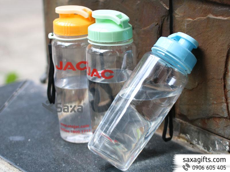 Bình nước nhựa nắp bật phối màu – Mẫu 2 – Hàng Việt Nam