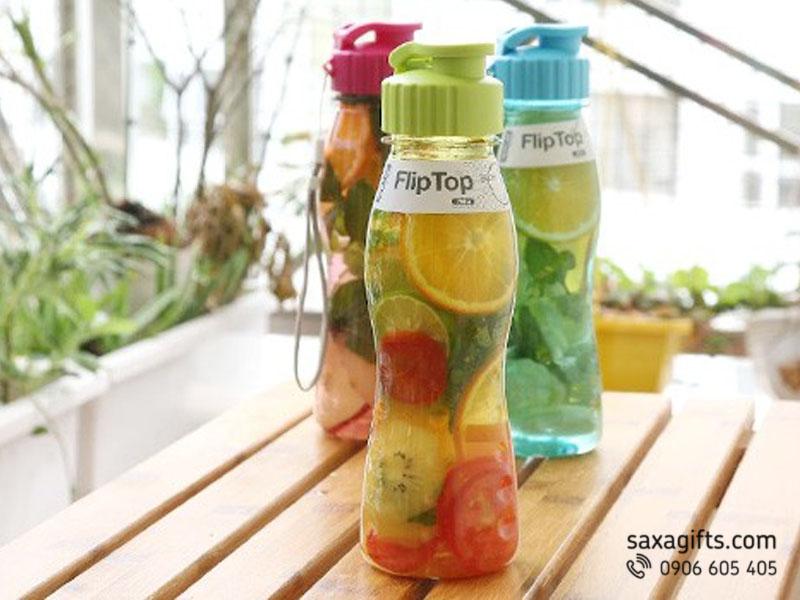 Bình nước nhựa FlipTop Hàn Quốc 700ml