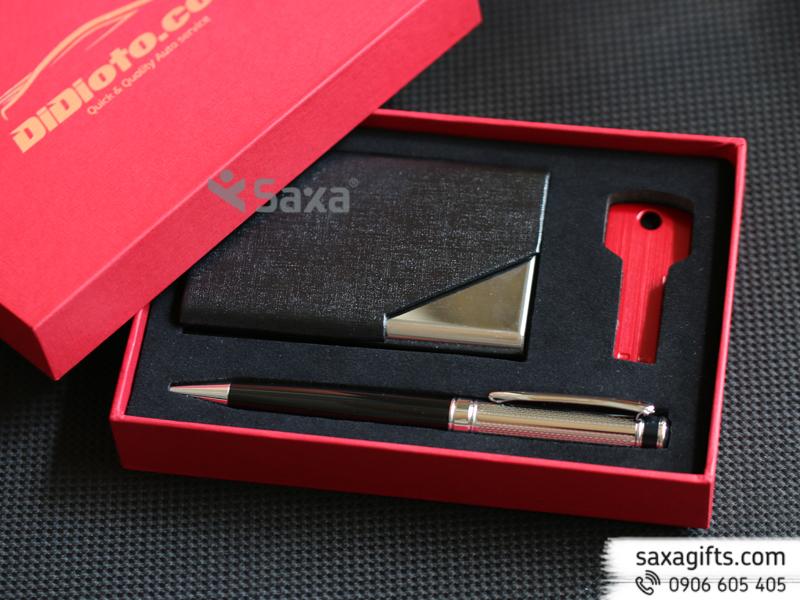 Bộ quà tặng Didioto: bút kim loại, hộp namecard, usb