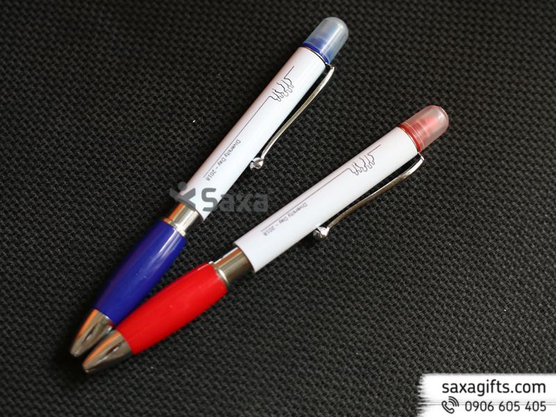 Bút bi 2 đầu: 1 đầu bút bi + 1 đầu highlight