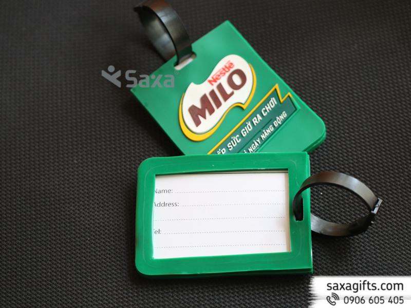Thẻ đeo vali hành lý đổ khuôn thương hiệu Milo