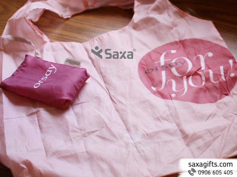 Túi vải dù mỏng xếp gọn – In logo Orsay