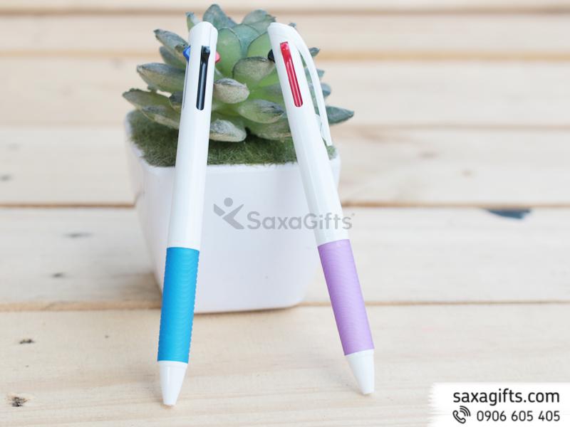 Bút Bi Nhựa Quảng Cáo 3 màu Mẫu 33