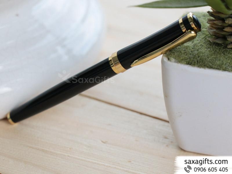 Bút kim loại nắp rời mạ vàng 3 vị trí