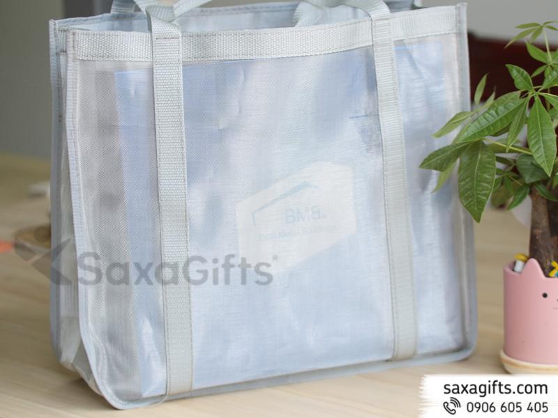 Túi vải lưới form to thời trang mẫu 1