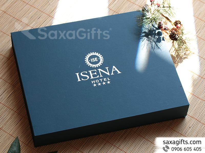 Bộ quà tặng: USB + bút kim loại + Hộp Namecard - In logo ISENA