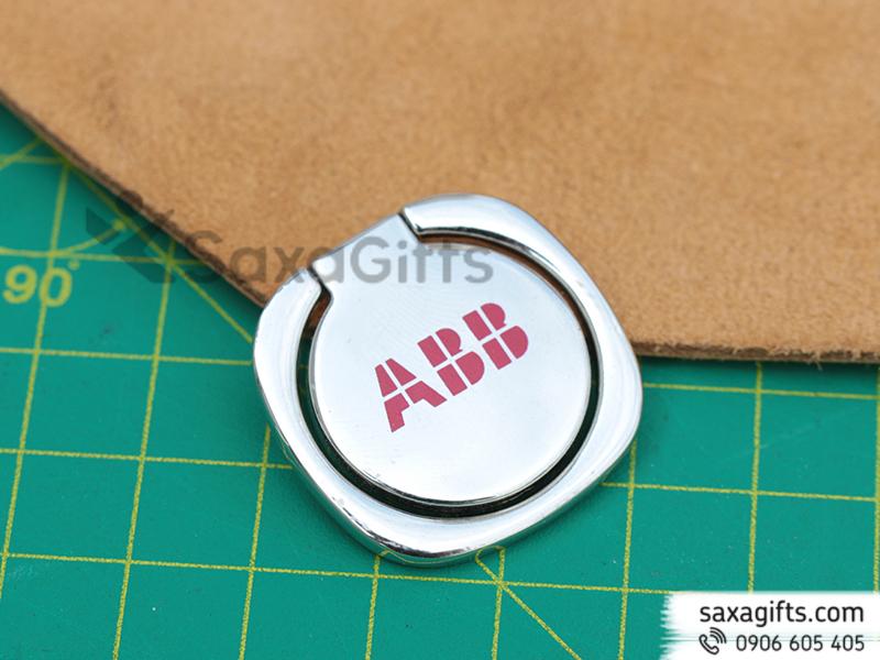Iring - Nhẫn điện thoại hình tròn in logo ABB