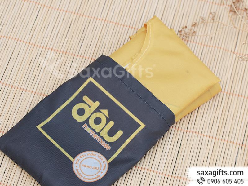 Túi vải dù mỏng xếp gọn – In logo Đậu Homemade