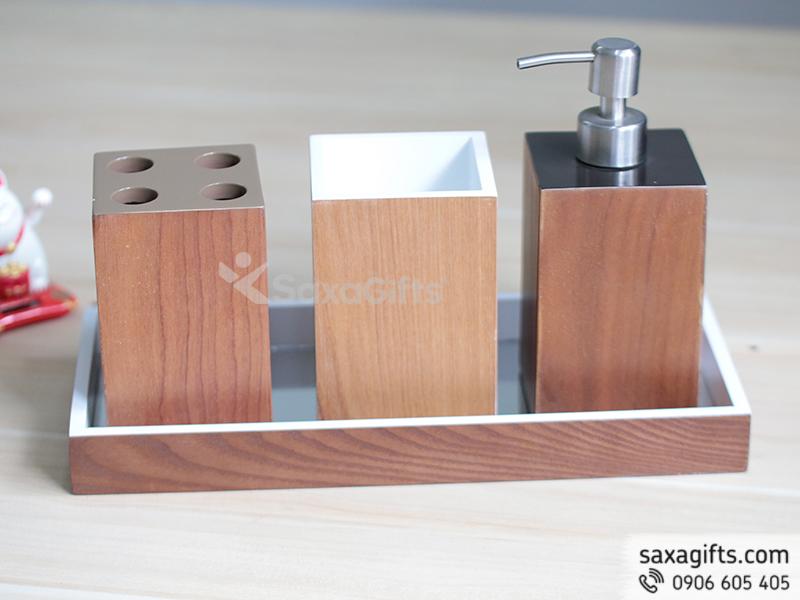 Set sản phẩm quà tặng mỹ nghệ dụng cụ phòng tắm