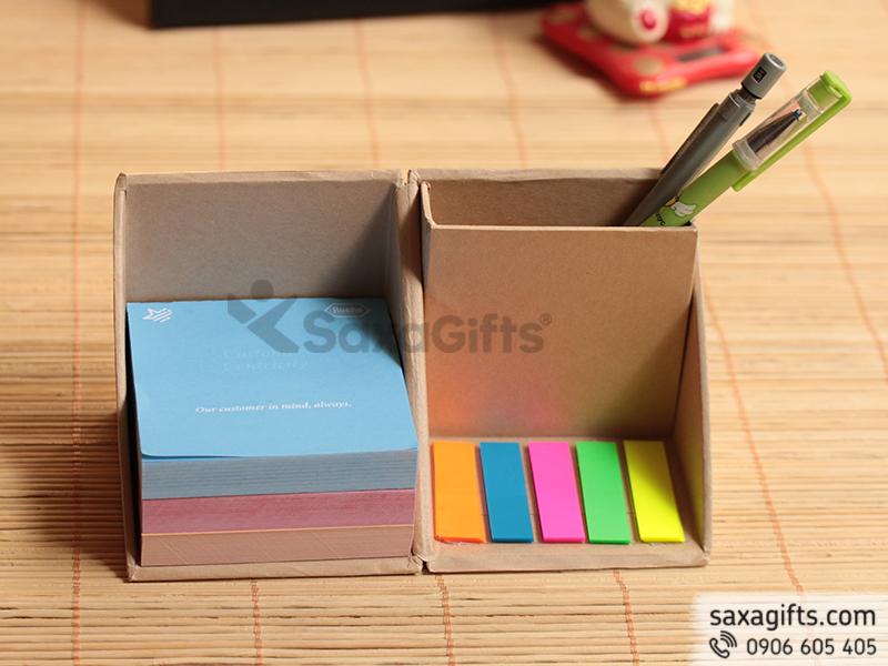 Bộ giftset hộp giấy sổ note để bàn có thể gấp gọn