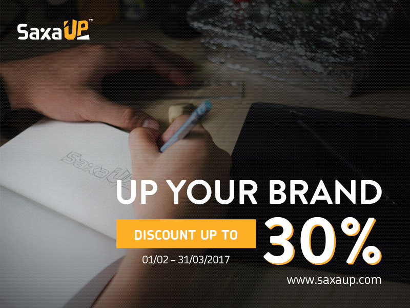 SaxaUp - Up your Brand