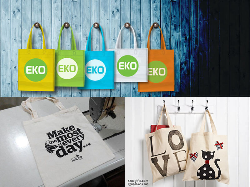 Túi vải in logo - Quà tặng quảng cáo thân thiện với môi trường