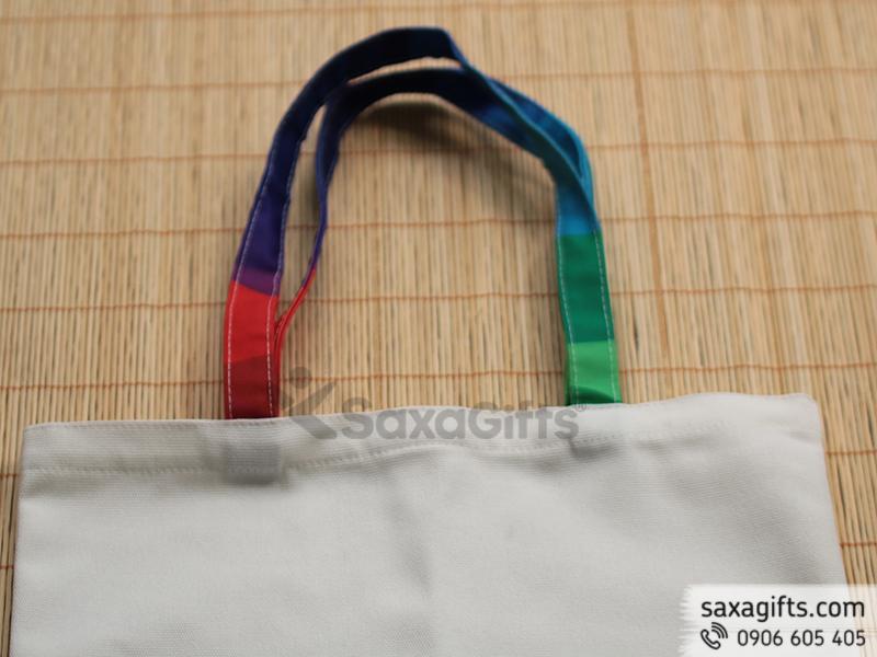 Túi vải canvas có quai xách được in chuyển nhiệt theo yêu cầu