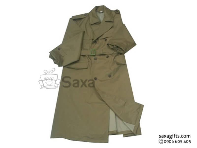 Áo mưa bit in logo bằng vải dù cao cấp