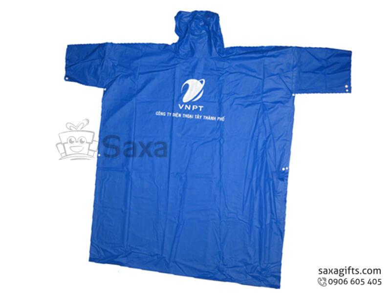 Áo mưa cánh dơi in logo có nhựa trong che đèn xe form rộng