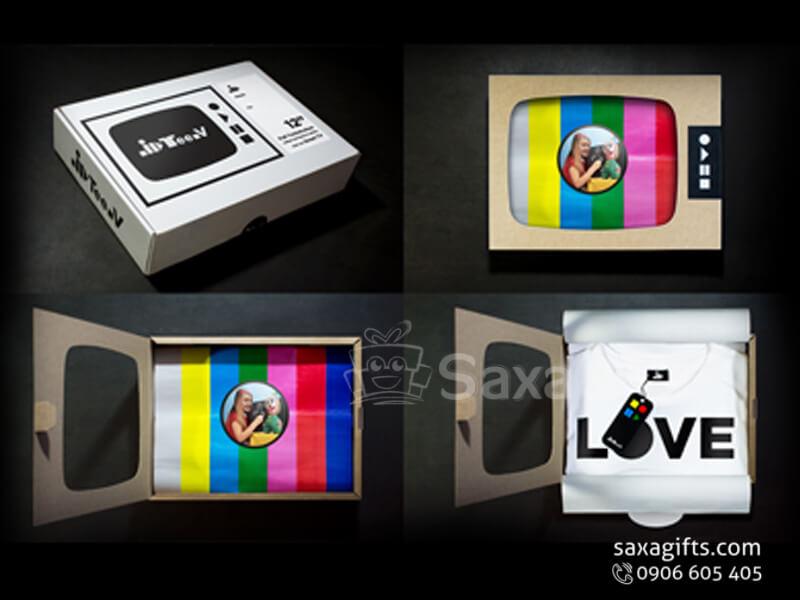 Áo thun in logo quảng cáo có hộp quà tặng