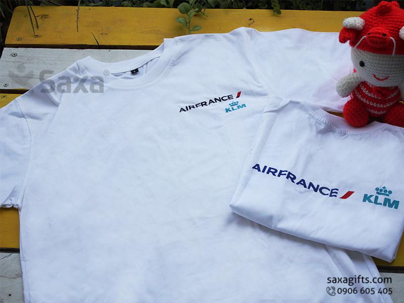 Áo thun quảng cáo in logo thương hiệu Air France