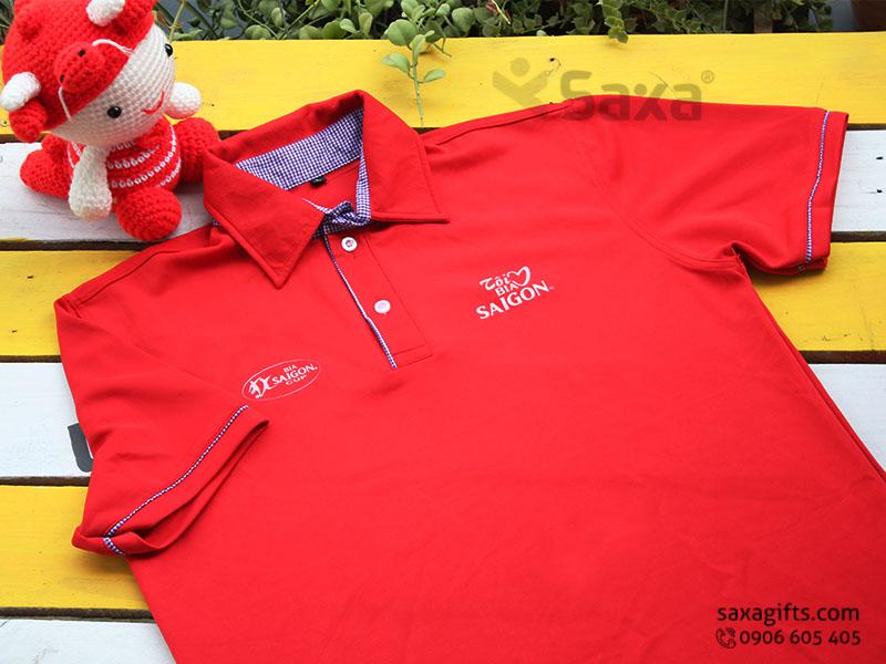 Áo thun quảng cáo in logo thương hiệu Bia Sài Gòn