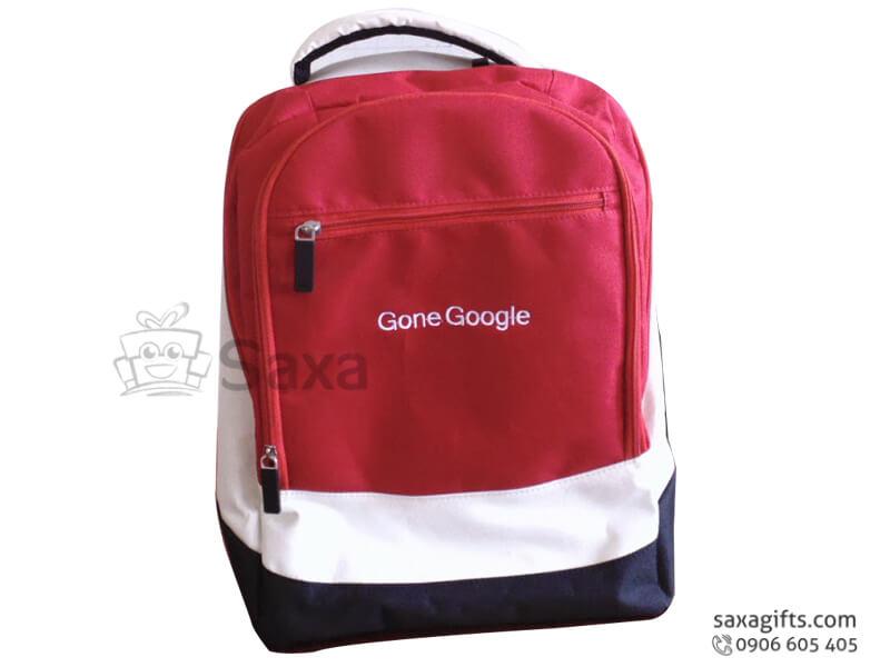 Balo laptop in logo phối 3 màu của Gone Google