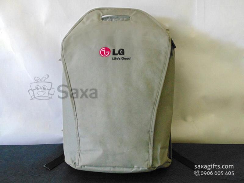 Balo laptop in logo vải dù nhám quai liền túi của LG