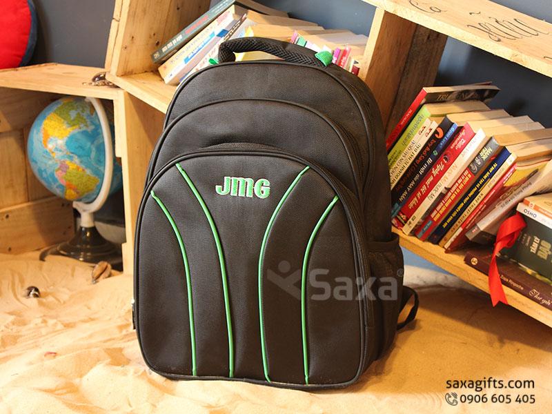 Balo quà tặng đựng laptop – Thêu logo JMG