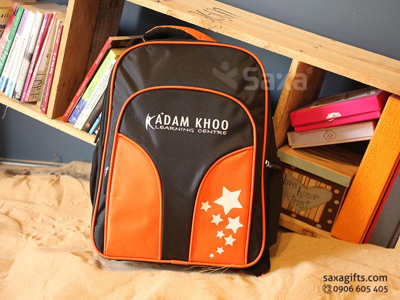 Balo quà tặng cho học sinh – Thêu logo Adam Khoo