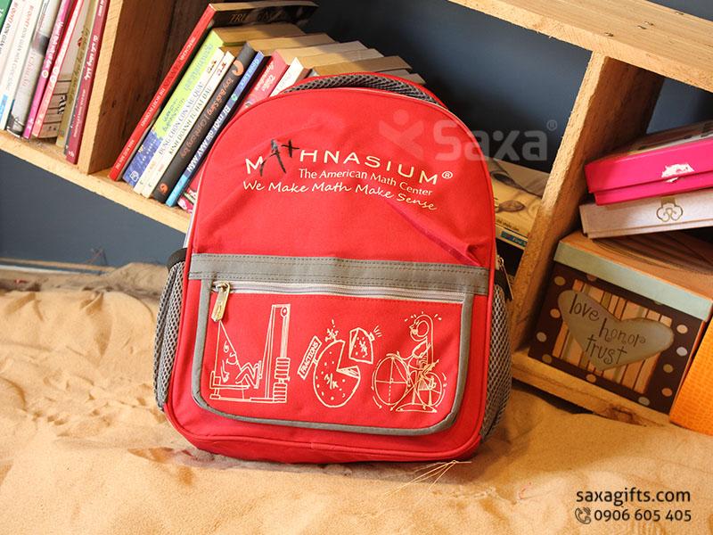 Balo quà tặng cho học sinh – In logo Mathnasium