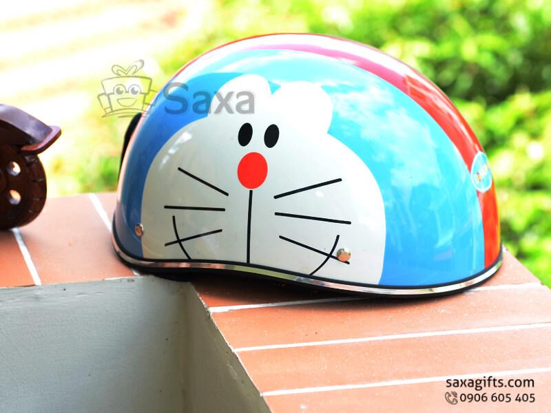 Mũ bảo hiểm in logo quảng cáo dành trẻ em không lưỡi trai