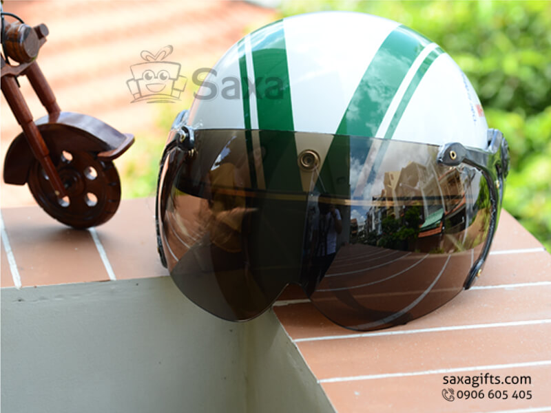 Mũ bảo hiểm in logo quảng cáo kiểu nửa đầu có kính che cá tính