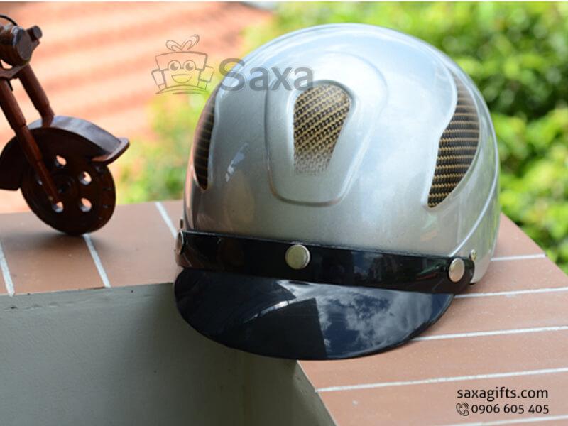 Mũ bảo hiểm in logo quảng cáo có nhấn họa tiết cá tính