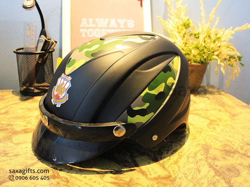 Mũ bảo hiểm quảng cáo – In logo Đồng Phát