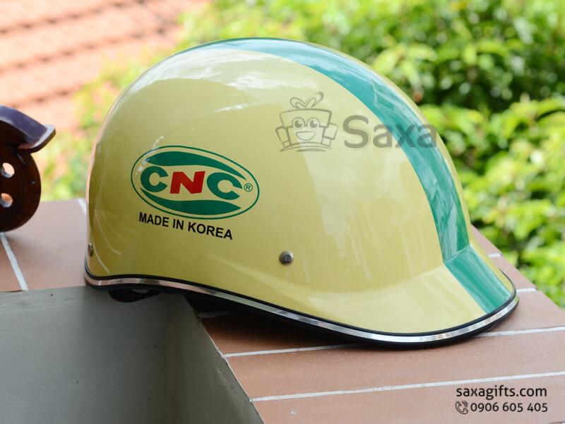 Mũ bảo hiểm in logo quảng cáo thiết kế vành đúc form nửa đầu của CNC