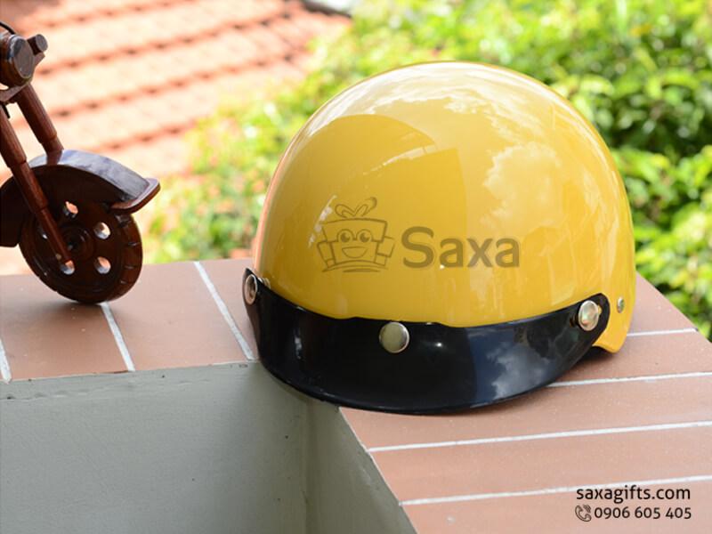 Mũ bảo hiểm in logo quảng cáo cho trẻ em lưỡi trai tháo lắp